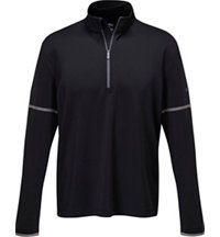 Men's Mock Quarter-Zip Long Sleeve Pullover