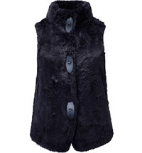 Women's Faux Fur Snap Vest