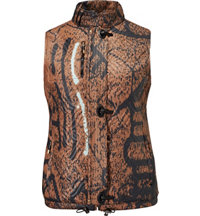 Women's Animal Print Zip Vest