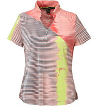 Women's Lined Color Block Short Sleeve Polo
