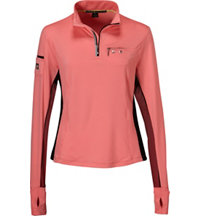 Women's Quarter-Zip Long Sleeve Mock