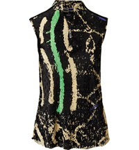 Women's Splatter Quarter-Zip Sleeveless Mock