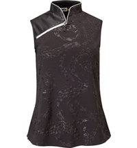 Women's Dino Textured Sleevelss Mock