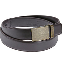 Men's Vader Belt - Bronze on Dark Brown