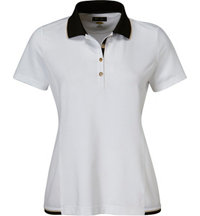 Women's Contrast Trim Short Sleeve Polo