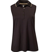 Women's Stud Sleeveless Polo