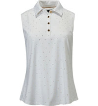 Women's Pin Dot Sleeveless Polo