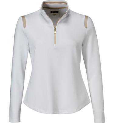 Greg Norman Women 39 S Mesh Trim Long Sleeve Polo At
