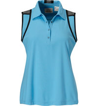 Women's Color Block Sleeveless Polo