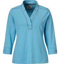 Women's Notch Collar Short Sleeve Polo