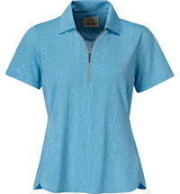 Women's Snake Skin Short Sleeve Polo