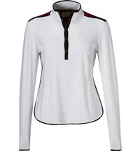 Women's Snap Placket Long Sleeve Mock