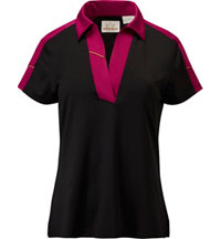 Women's Jersey Colour Block Short Sleeve Polo