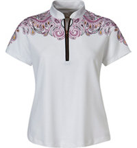 Women's Placed Paisley Short Sleeve Polo