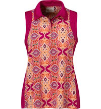 Women's Paisley Tile Sleeveless Polo