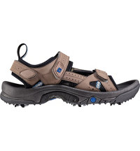Men's GreenJoys Sandal Spiked Golf Shoes - All Over Dark Taupe (FJ# 45318)