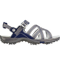 Women's Webbing Strap Spiked Golf Sandal - Grey/Blue (FJ# 48445)