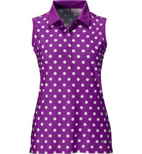 Women's Precision Print Sleeveless Polo