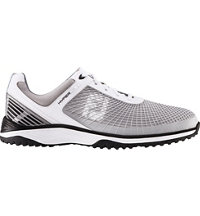Men's Hyperflex Trainer Spikeless Golf Shoes - White/Silver/Black (FJ# 62800)
