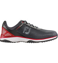 Men's Hyperflex Trainer Spikeless Golf Shoes - Charcoal/Red (FJ#62801)