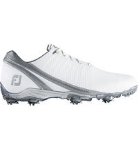 Men's D.N.A Spiked Golf Shoes - White/Silver (FJ#53383)