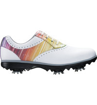 Women's eMERGE Spiked Golf Shoes - White/Rainbow (FJ# 93901)