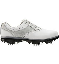 Women's Emerge Spiked Golf Shoes - White/Silver (FJ# 93902)
