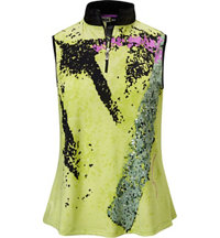 Women's Zap Print Sleeveless Mock