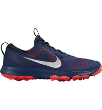 Men's FI Bermuda Spiked Golf Shoes - Midnight Navy/White/Bright Crimson