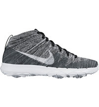 Men's Flyknit Chukka Spikeless Golf Shoes - Black/White