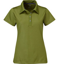 Women's Essential Python Print Short Sleeve Polo