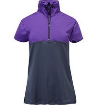 Women's Zip Front Short Sleeve Polo