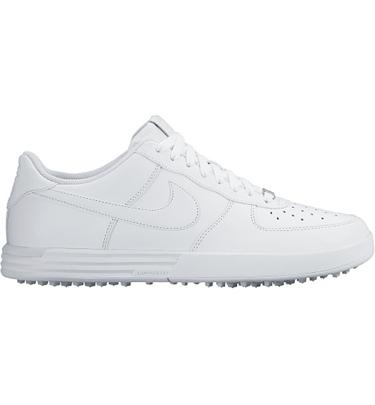 Mens Lunar Force 1 Spikeless Golf Shoes - White  Golf Town L