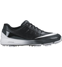 Men's Lunar Control IV Spiked Golf Shoes - Black/White/Black