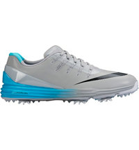 Men's Lunar Control IV Spiked Golf Shoes - Wolf Gray/Black/Blue/White