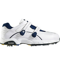 Men's Hook & Loop Superlite Spiked Golf Shoes - White (FJ# 50026)