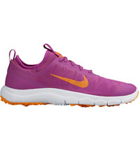 Women's FI Bermuda Spiked Golf Shoes - Cosmic Purple/Vivid Orange/White
