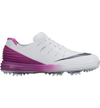Women's Lunar Control 4 Spiked Golf Shoes - White/Anth/Cosmic Purple