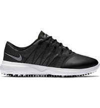 Women's Nike Lunar Empress 2 Spiked Golf Shoes - Black/Metallic Silver/White
