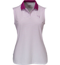 Women's 3D Stripe Sleeveless Polo