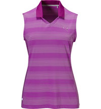 Women's Dense Stripe Sleeveless Polo