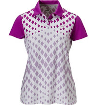 Women's Diamond Graphic Short Sleeve Polo