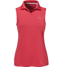 Women's Polka Stripe Sleeveless Polo