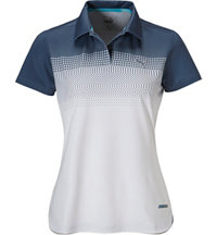 Women's Color Block Fade Short Sleeve Polo