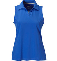 Women's Woven Block Sleeveless Polo