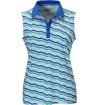 Women's Wave Sleeveless Polo