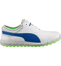 Men's Puma Ignite Spikeless Golf Shoes - White/Surf the Web