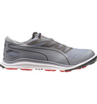 Men's Puma BIODRIVE Spiked Golf Shoes - Quicksilver/Black