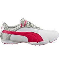 Women's Puma Sunnylite V2 Spikeless Golf Shoes - White/Rose Red/Gray