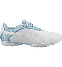 Women's Puma Sunnylite V2 Spikeless Golf Shoes - White/Cool Blue/Gray (# 18866803)